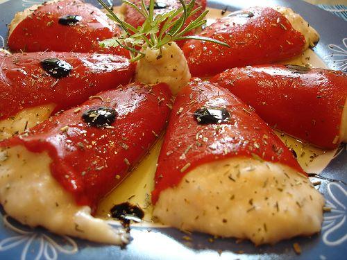 pimientos rellenos de salmon