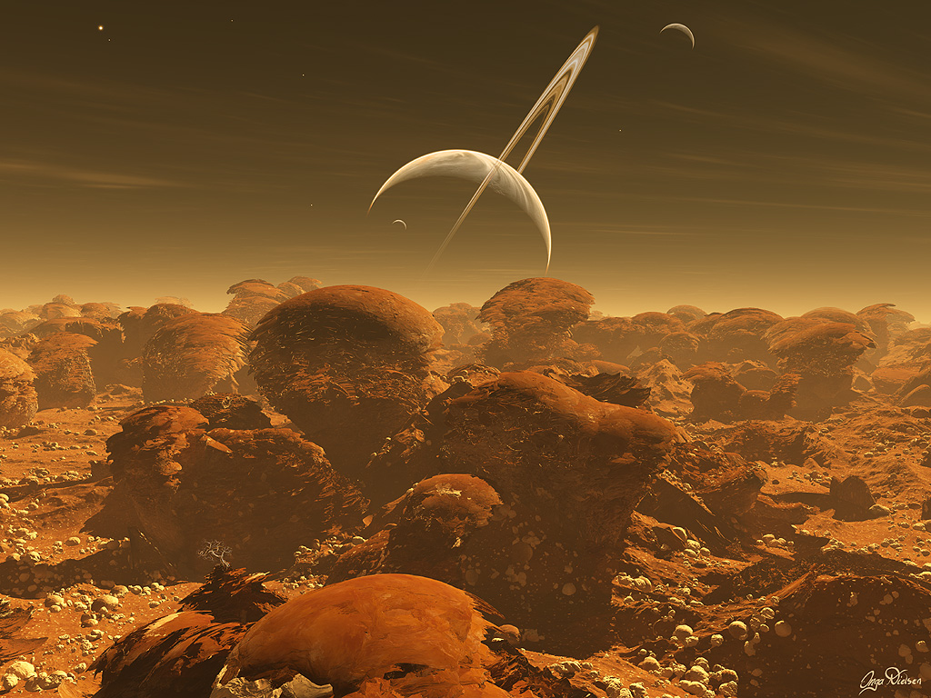 Resultado de imagen de Amanecer  en Titán
