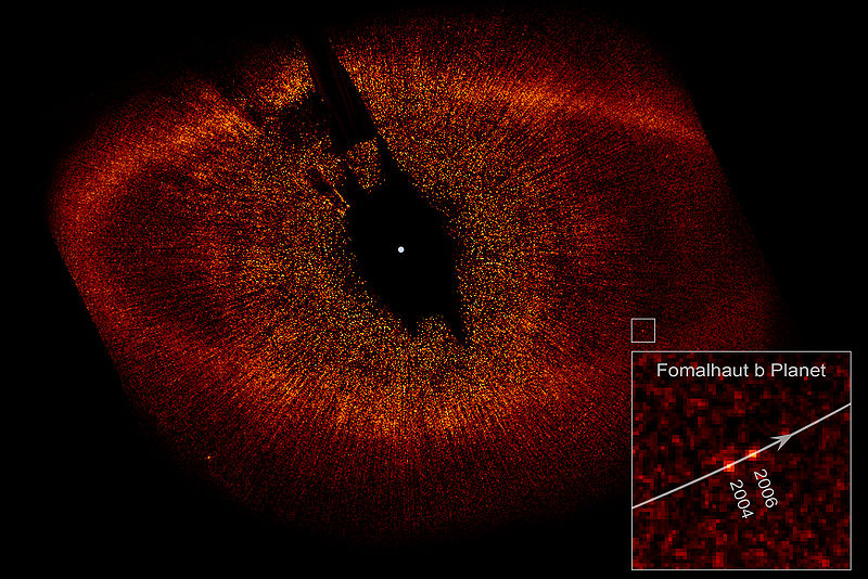Fomalhaut_with_Disk_Ring_and_extrasolar_planet_b