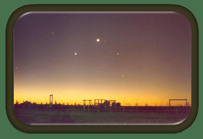 Jupiter y Venus - observatorio
