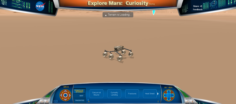 Manejando el Curiosity (Experiencia interactiva)