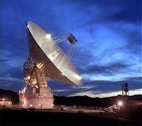 El radar Goldstone, de la NASA, mide 70 metros de di