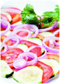 ensalada de pepino con tomate
