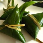 Arroz dulce en hojas de bambú