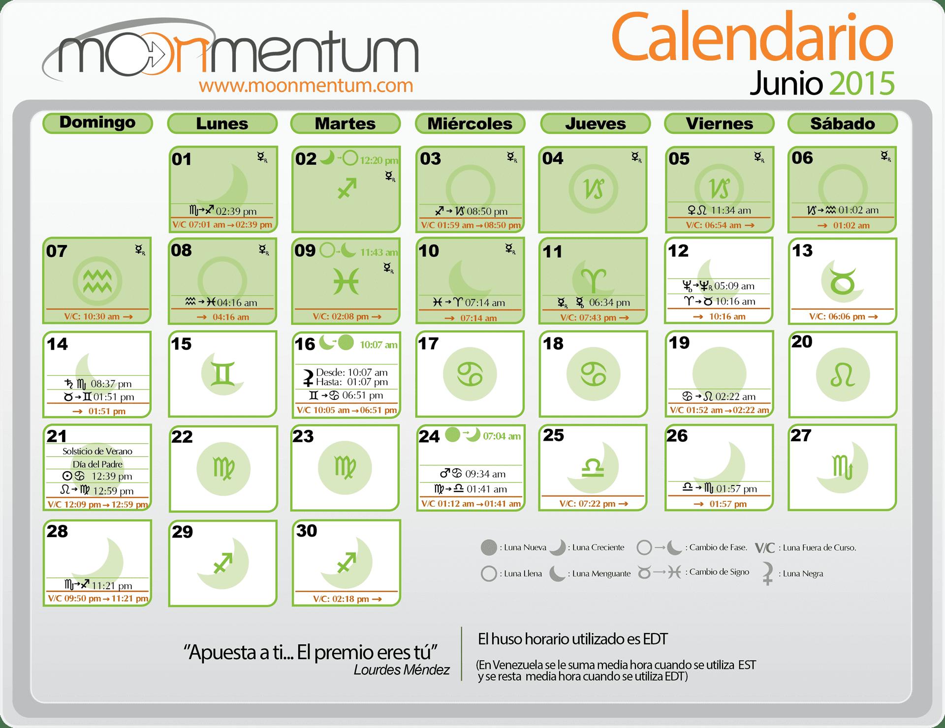 Calendario junio 2015 moonmentum for Calendario lunar junio