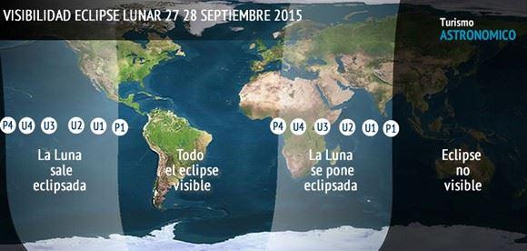 Visibilidad Eclipse Lunar 2015
